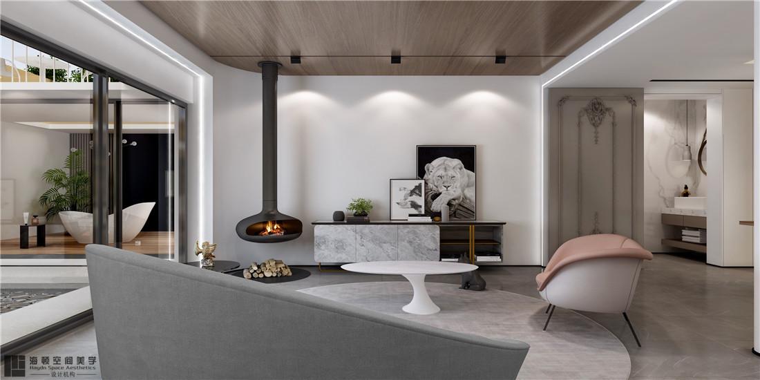 西安海頓室內設計案例 現代簡約客廳