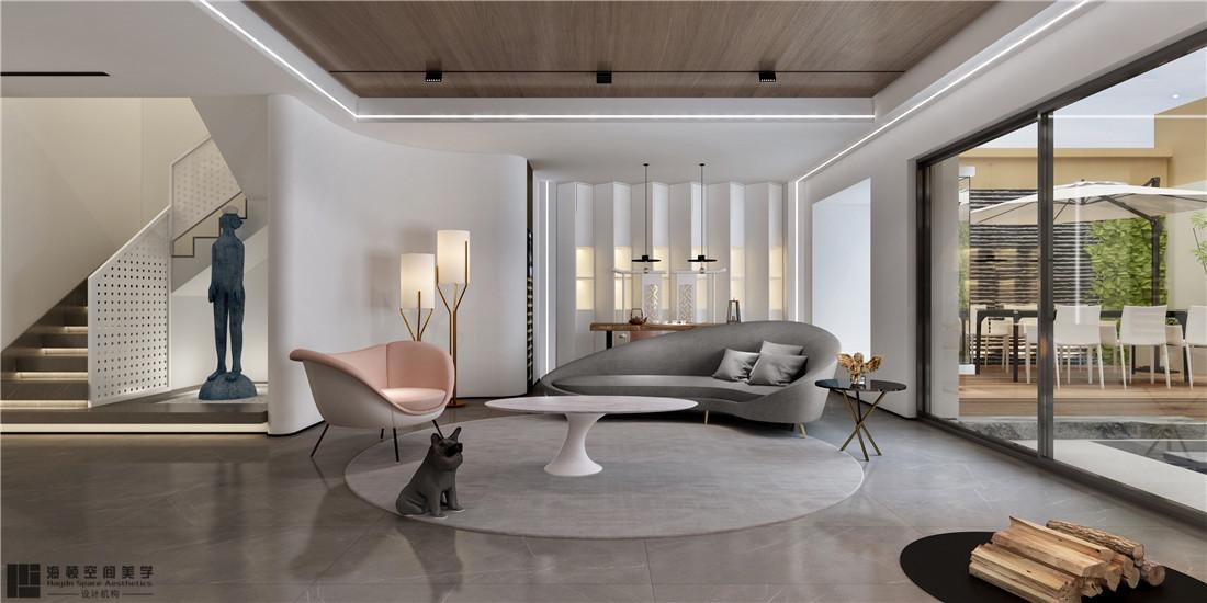 西安海頓室內設計案例 現代簡約客廳2